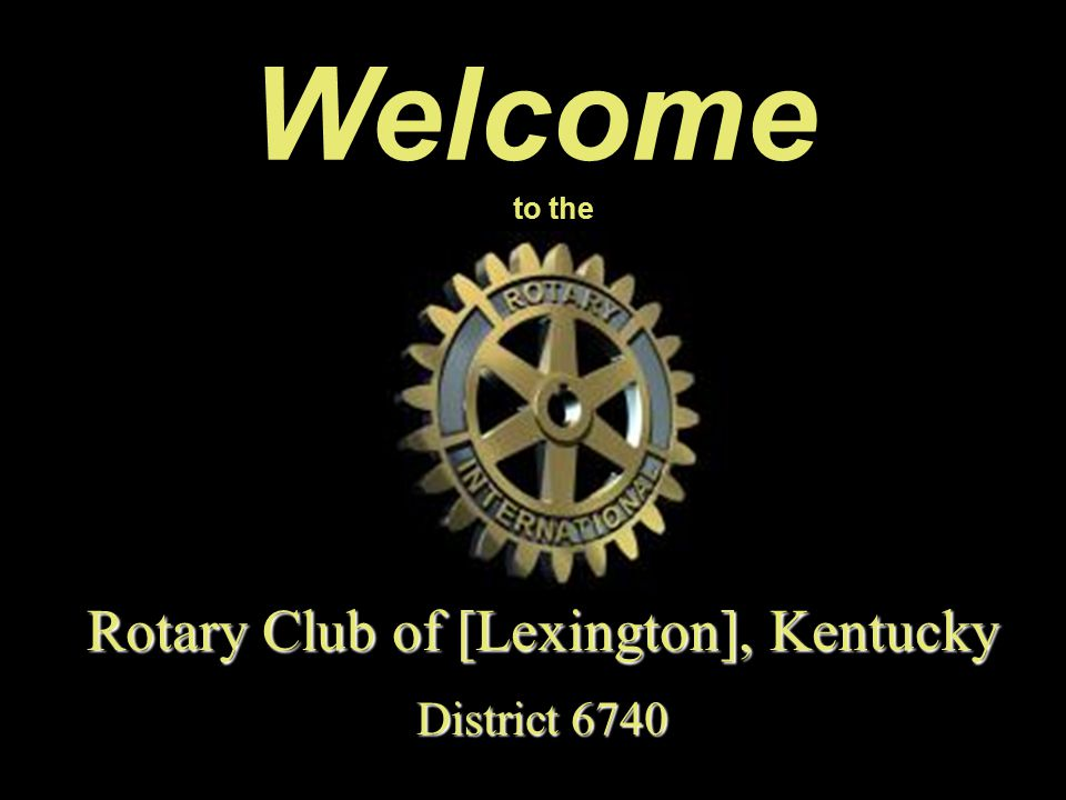 Rotary Club of [Lexington], Kentucky